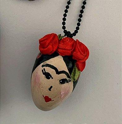 Colar cabeça Frida