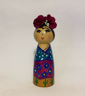 Boneca Frida Xale Azul