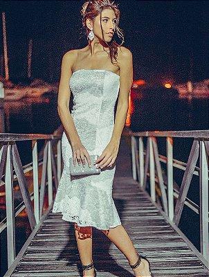 Vestido Midi Renda Garden TQC 3 Babados