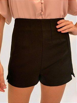 Short Cintura Alta Pregas