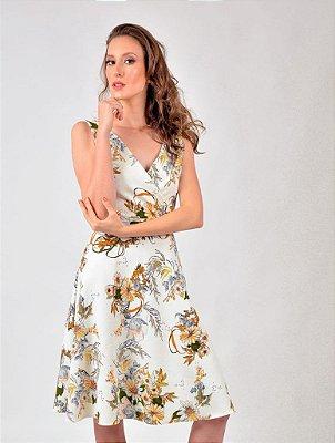 Vestido Poly Transpasse Floral