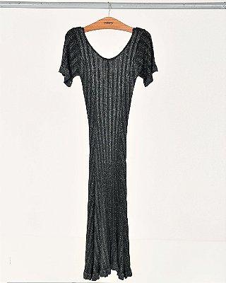 Vestido Lurex Midi
