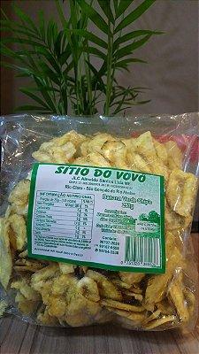 Banana Verde Chips 250 g. Acompanha ketchup