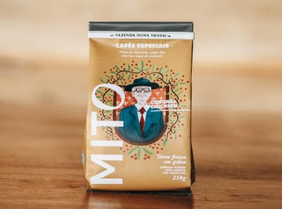 Café Mito Coronel Chichico  100% arábica EM GRÃOS 250 g