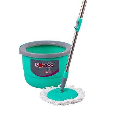 Balde espremedor com mop capacidade 12 litros Noviça - Slim
