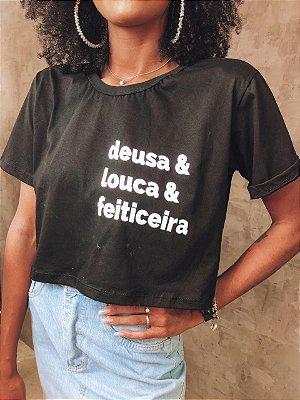 Tshirt Cropped Deusa