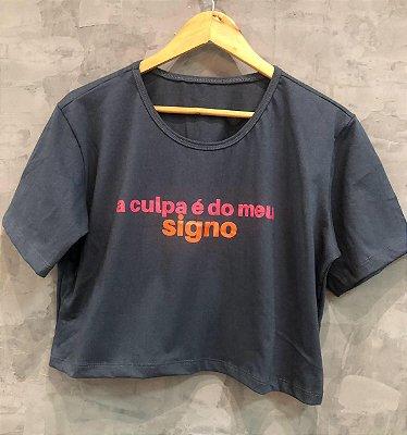Tshirt Cropped A Culpa é o meu Signo