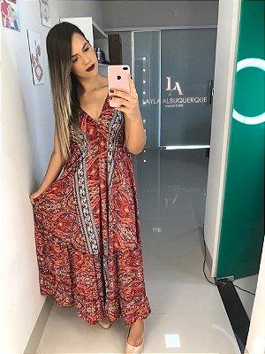 Vestido Lenço Rosa