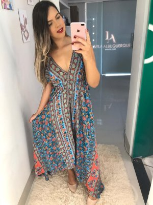 Vestido Lenço Azul
