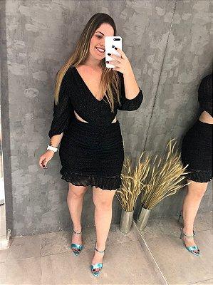 Vestido Recorte Lurex