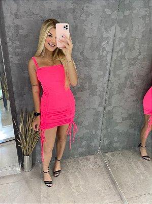 Vestido Gringa Rosa Neon