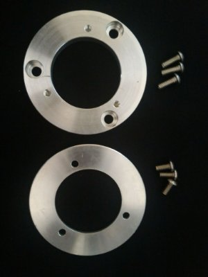 Conversor de furação para filtros de ar - motos com sistema de acelerador eletrônico.