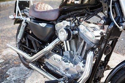 Kit preparação estágio 1 para Harley Davidson - Ponteira Ponta de Fuzil + filtro de ar modelo Heavy Flux