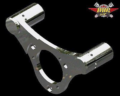 Suporte para filtro de ar para motores 103 (sistema de acelerador eletrônico) Harley Davidson / Machined aluminum bracket for RXC Design air filters - Eletronic throttle system.