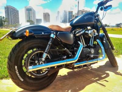Kit preparação estágio 1 para Harley Davidson com filtro de ar INTAKE II - Ponteira Ponta lisa + filtro de ar modelo INTAKE II