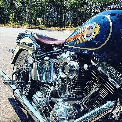 Filtro de ar modelo Retrô para toda linha Harley Davidson.