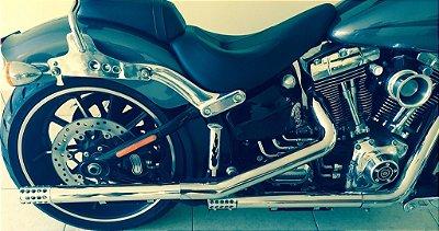 Kit preparação estágio 1 para Harley Davidson - Ponteira Ponta de Fuzil + filtro de ar modelo INTAKE