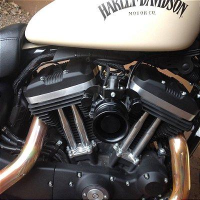 Filtro de ar modelo Retrô Black para toda linha Harley Davidson.
