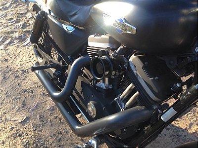 Filtro de ar  modelo Short INTAKE Black para toda linha Harley Davidson.