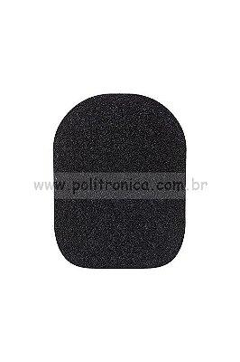 Espuma (Protetor) para Microfone WM-308/Retangular - PL7 - Preta - Lika