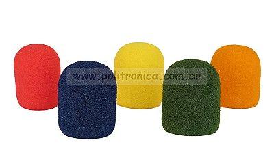 Espuma (Protetor) para Microfone WM-308/Retangular - PL7 - Colorida - Lika