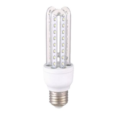 Lâmpada de LED 9W - Tipo Econômica 3U - Branco Frio (6000K) - Bivolt - Importado
