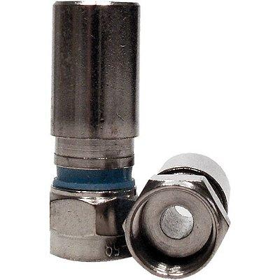 Conectror F RG 59 Compressão - Metal - Importado