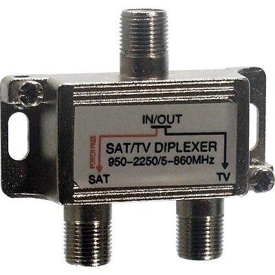 Divisor Diplexador VHF-UHF/ Satelite - Importado
