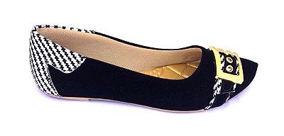 sapatilhas no atacado preto com fivela
