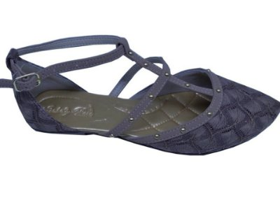 sapatilha com ajuste lateral cor cinza