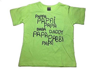 Camiseta Papai em várias línguas