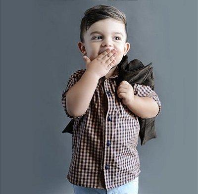 Camisa Xadrez Cadu Atithude Kids