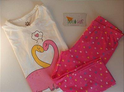 Pijama Pink Manga Longa Brandili Menina