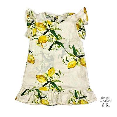 Vestido Antonella - Estampa Limão  Atithude Kids
