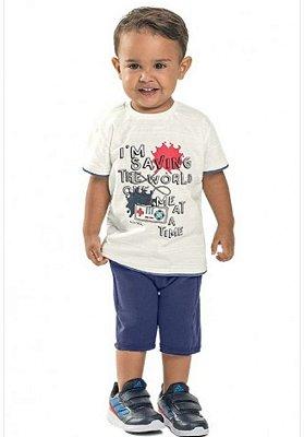 Conjunto Camiseta e Bermuda Menino