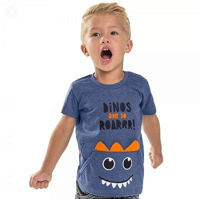 Camiseta Dino com Bolso