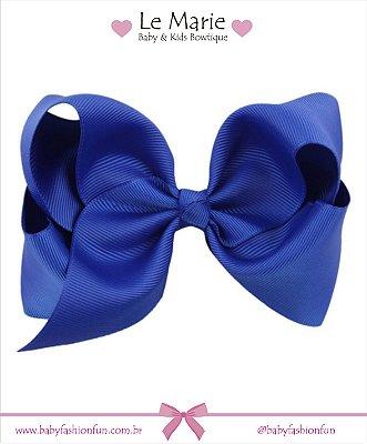 """Lacinho em Gorgurão """"nózinho"""" G - Azul Royal"""