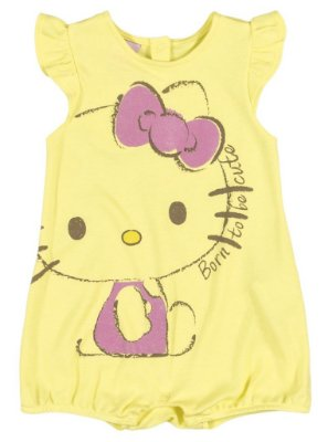 Romper | Banho de Sol Yellow - Hello Kitty