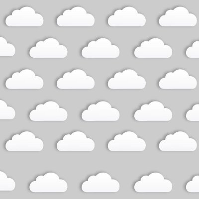 Cartela de Adesivos Decor - Nuvem
