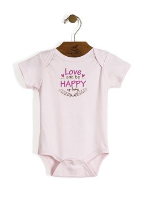 Body Manga Curta | Up Baby - Love & Happy