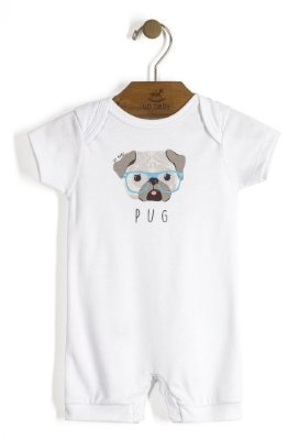 Macaquinho | Up Baby - Pug Branco
