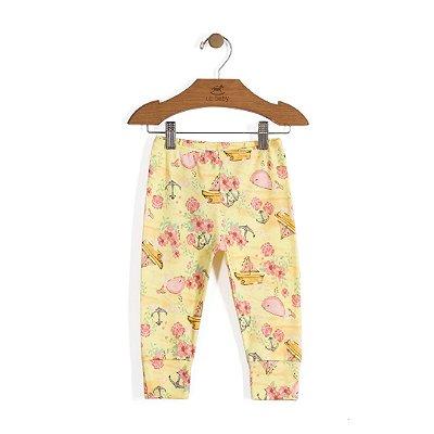 Calça Vira-Pezinho | Up Baby - Baleia amarela