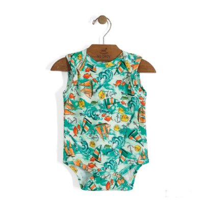 Body Regatinha | Up Baby - Sea Green