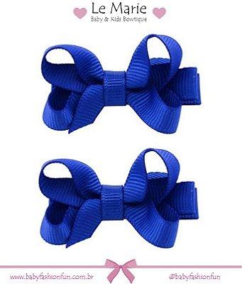 Kit c/ 2 lacinhos em gorgurão PP - Azul Royal