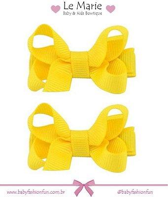 Kit c/ 2 lacinhos em gorgurão PP - Amarelo