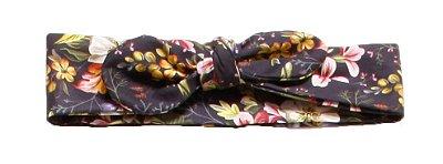 Faixinha turbante - Floral Black