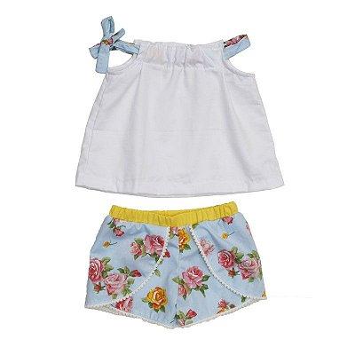 Conjuntinho Bella - Shorts + batinha