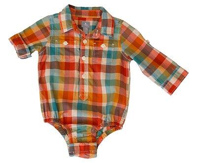 Body Camisa | Baby Gap - Xadrez