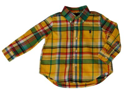 Camisa Manga Longa | Ralph Lauren - Xadrez Amarela