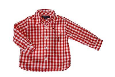 Camisa Manga Longa | Tommy - Xadrez Vermelha